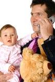 dziecko biznesmena telefon Fotografia Stock