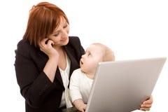 dziecko bizneswoman Zdjęcie Stock