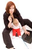 dziecko bizneswoman Fotografia Stock