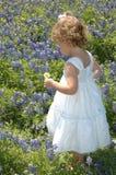 dziecko blue bonnet Obrazy Royalty Free