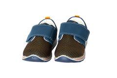 Dziecko buta moda Para błękitny drelichowy dziecko sport lub tenisówka zdjęcie royalty free