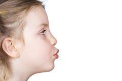 dziecko buziak obraz royalty free