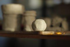 Dziecko ceramiczna piłka Obraz Royalty Free