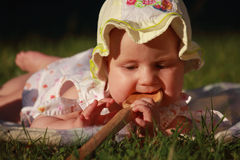 Dziecko chce jeść Fotografia Royalty Free