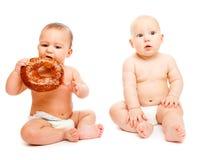 dziecko chleb Zdjęcia Royalty Free