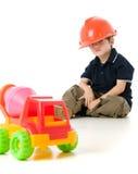 dziecko ciężkie kapelusz zdjęcia stock