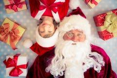 dziecko Claus Santa Fotografia Stock