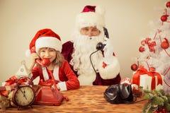dziecko Claus Santa Obraz Royalty Free