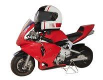 Dziecko czerwieni motocykl Fotografia Royalty Free