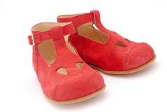 dziecko czerwone buty Zdjęcie Stock