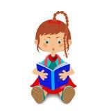 Dziecko czyta książkę Zdjęcie Royalty Free