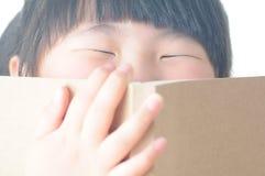 Dziecko Czytelnicza książka zdjęcia stock