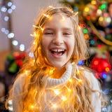 Dziecko dekoraci choinka fotografia stock