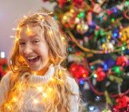 Dziecko dekoraci choinka obraz royalty free
