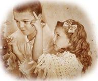 Dziecko dekoruje na choince Obraz Stock