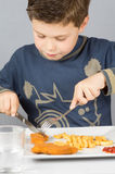 Dziecko dinner_4 Fotografia Royalty Free