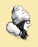 dziecko dni słońca zimy uśmiechnięta dziewczyny royalty ilustracja
