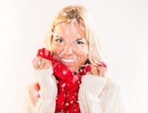 dziecko dni słońca zimy uśmiechnięta dziewczyny Obrazy Stock