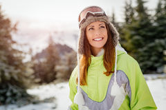 dziecko dni słońca zimy uśmiechnięta dziewczyny Zdjęcie Royalty Free