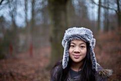 dziecko dni słońca zimy uśmiechnięta dziewczyny zdjęcia stock
