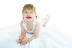 dziecko do łóżka Zdjęcie Royalty Free