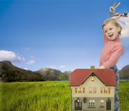 dziecko do domu Fotografia Royalty Free