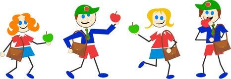 dziecko do szkoły ilustracja wektor
