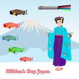 Dziecko dzień Japonia royalty ilustracja
