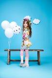 Dziecko dzieciaków mody sukni małej dziewczynki śliczny uśmiech Zdjęcie Stock