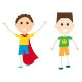 Dziecko dzieciaków przylądka kostiumowa szczęśliwa wektorowa ilustracja Fotografia Stock