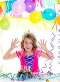 Dziecko dzieciaka następczyni tronu w przyjęciu urodzinowym Obrazy Royalty Free