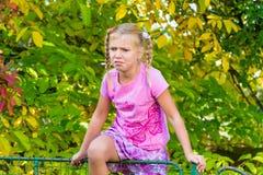 Dziecko dziewczyna w bólu Zdjęcia Stock