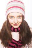 Dziecko dziewczyna z zimą odziewa Obrazy Royalty Free
