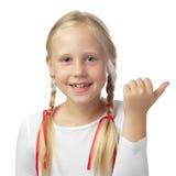 Dziecko dziewczyny wskazywać Obraz Royalty Free
