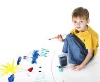 dziecko farby zdjęcia royalty free