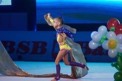 'dziecko filiżanka - BSB banka' children rywalizacje w gimnastykach, 05 2015 w Minsk Grudzień, Białoruś Fotografia Royalty Free