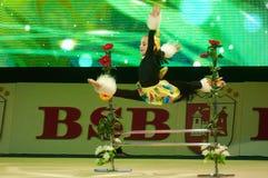 'dziecko filiżanka - BSB banka' children rywalizacje w gimnastykach, 05 2015 w Minsk Grudzień, Białoruś Obrazy Stock
