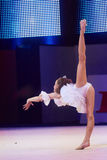 'dziecko filiżanka - BSB banka' children rywalizacje w gimnastykach, 05 2015 w Minsk Grudzień, Białoruś Zdjęcia Royalty Free