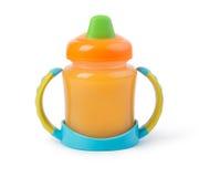 Dziecko filiżanki butelka zdjęcie stock