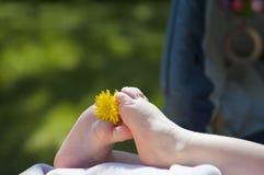 dziecko foots s Zdjęcie Stock