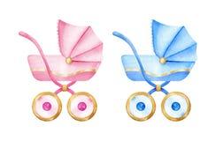 Dziecko fracht Chłopiec i dziewczyna frachty Żartuje akcesoria beak dekoracyjnego latającego ilustracyjnego wizerunek swój papier Obraz Stock