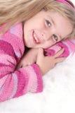 dziecko futra swetra różowego white Obraz Stock