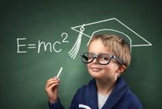 Dziecko geniusz w edukaci Fotografia Royalty Free
