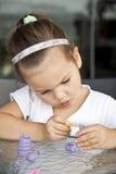 dziecko glina sculpts zdjęcie royalty free