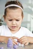 dziecko glina sculpts fotografia royalty free