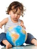 dziecko globe układanki Zdjęcie Royalty Free