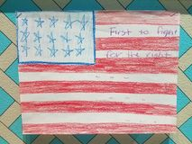 Dziecko grafika z flaga Stany Zjednoczone Zdjęcia Stock