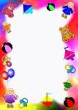 dziecko granice kolorowe zabawki Zdjęcia Royalty Free