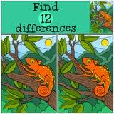 Dziecko gry: Znalezisko różnicy Obrazy Royalty Free