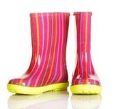 Dziecko gumowi buty dla spaceru w deszczu i póżniej Fotografia Stock